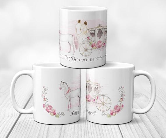 Hochzeitsantrag Tasse, Heiratsantrag Kaffeebecher, Kaffeetasse, Geschenkidee, Hochzeit, Hochzeitstasse, Willst du mich heiraten