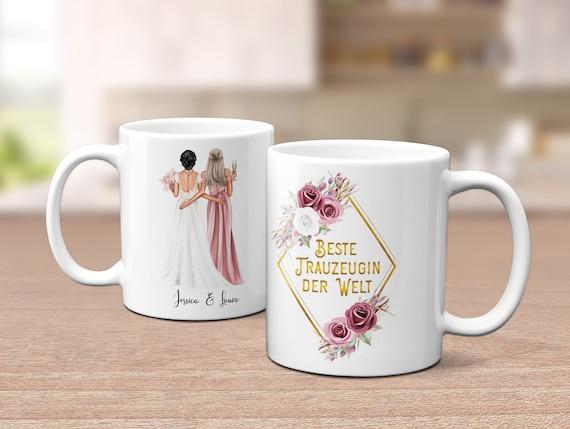 Trauzeugin Tasse, personalisiertes Geschenk, Beste Trauzeugin der Welt