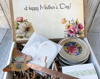 Gift box for gardeners gardening seed bag empty feast gift for her with bags for seeds Christmas gift for mothers