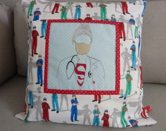 Pillowcase, Calling all Nurses, First Aid, Frontline Heros, Good Recovery, Embroidered