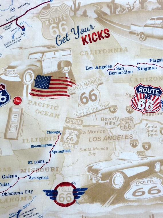 Route 66, America, road Map,, 1 meter
