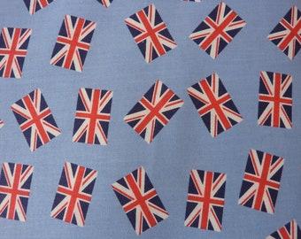 London, England,Union Jack, Dear Stella, Patchwork, 0.5 meters, Flag, Cotton