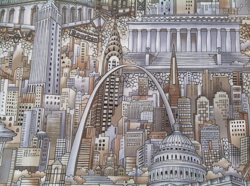 New York 1 Meter Globetrotter Cotton Route 66 America/'s Big Cities