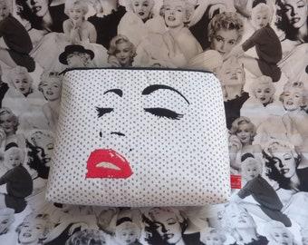 Marilyn Monroe, Cosmetic Bag, Hollywood, Los Angeles, Tote Bag, Diva,