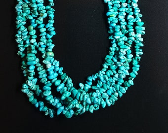 Multi Stand Turquoise Necklace