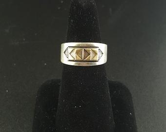 VINTAGE sterling silver men's ring - size 8.5