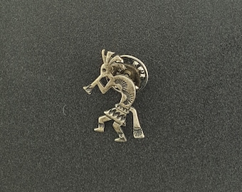 Vintage Kokopelli sterling silver button cover