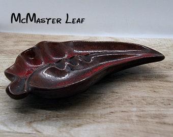 Canada Pottery, Vintage McMaster 37 Leaf ashtray ceramic dish, Vintage Medalta Potteries Redcliff Alta bowl