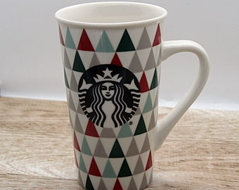 Collector Edition coffee mug, Tim Horton limited edition coffee mug cup, Starbucks tall  red and green mug, Starbucks tall mug