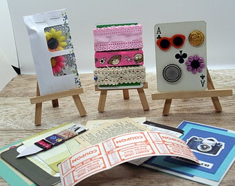 Happy mail, ephemera pack, cardmaking supplies