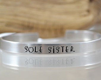 Sole Sister Jewelry - Personalized Bracelet - Running Jewelry - Personalized Jewelry - Sole Sister Bracelet for Runners