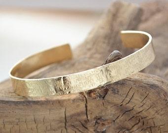 Bridesmaid Gifts - Personalized Gold Bracelet - Gold Cuff Bracelet - Personalized Jewelry - Hand Stamped Secret Message - Pink Lemon Design