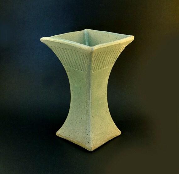Ceramic Vase Tall Vase Large Vase Handmade Square Vase Etsy