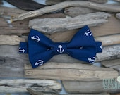 Boys Child Navy Anchor Bow Tie, Toddler Bow Tie, Baby Bow Tie, Kids Bow Tie, Children Bow Tie, Nautical Bow Tie, Newborn Baby Navy Bow Tie