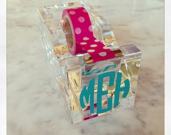 Personalized clear acrylic tape dispenser