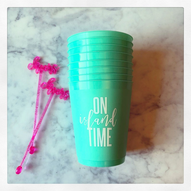 4547718159f On Island Time 16oz frost flex cups image 0