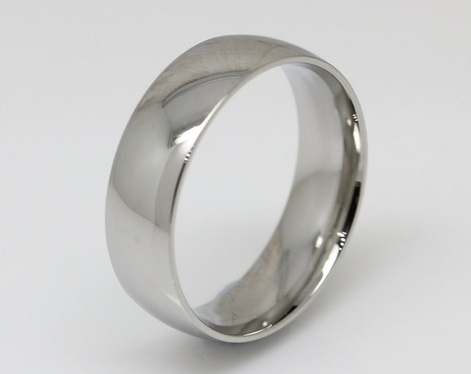 5mm Surgical Steel Comfort Fit / Court Shape Plain band Wedding Ring