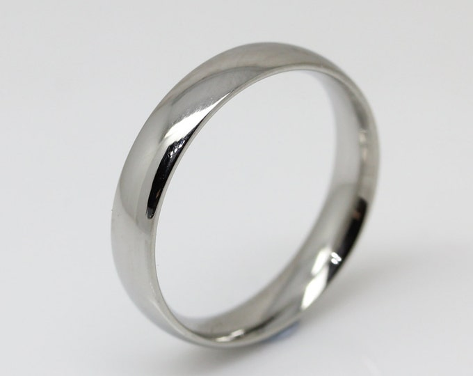 4mm Surgical Steel Comfort Fit / Court Shape Plain band Wedding Ring