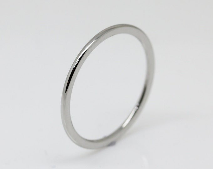 1mm Surgical Steel Comfort Fit / Court Shape Plain band Wedding Ring
