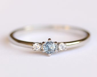 7f5e19cc6a151 Aquamarine engagement ring | Etsy