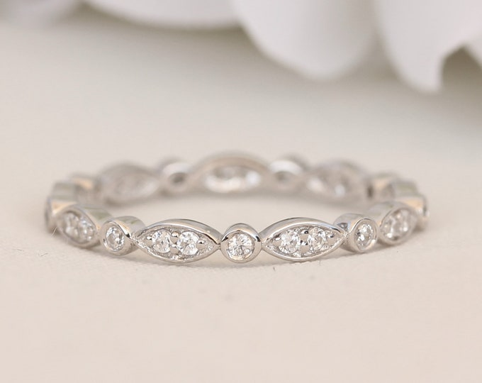 Platinum full eternity ring with Natural or man made diamonds