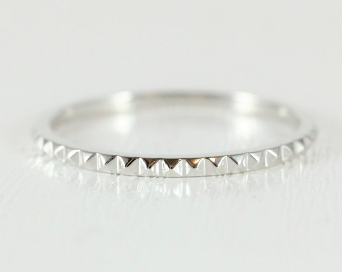 stud design 1.5mm wide wedding ring - wedding band - promise ring