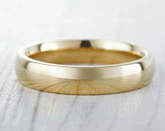5mm Wide, filled 18ct yellow gold Plain Wedding band Ring - gold ring