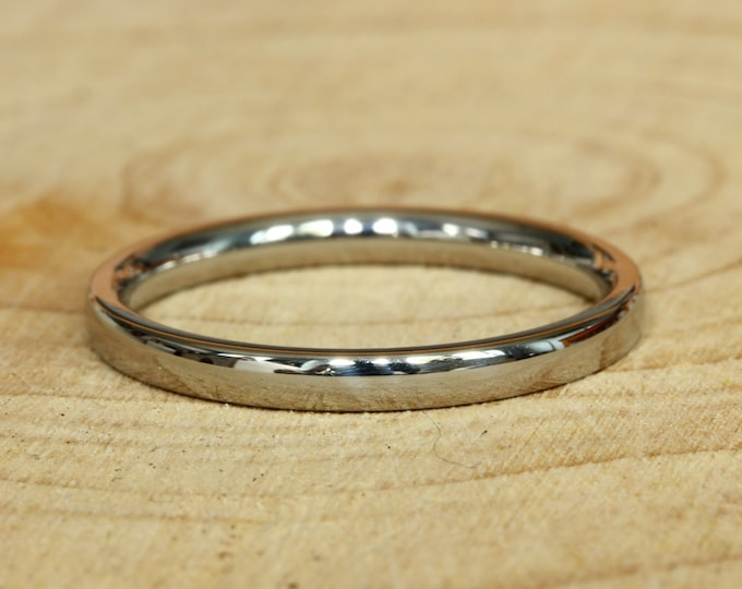 2mm Titanium Comfort Fit / Court Shape Plain band Wedding Ring
