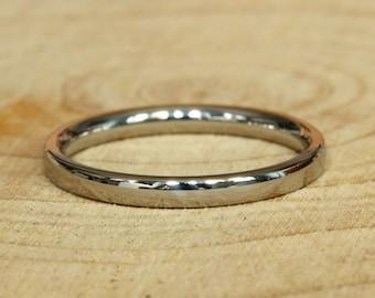 2mm Titanium Comfort Fit / Court Shape  Plain band Wedding Ring
