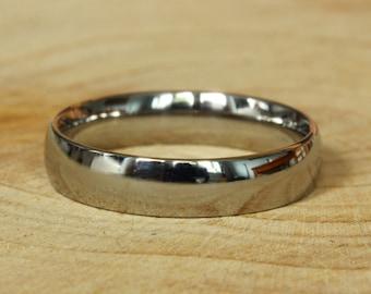 4mm Wide Comfort Fit / Court Shape Titanium Plain band Wedding Ring