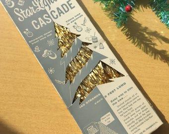 Vintage Starlight Cascade Gold Tinsle in Original Box