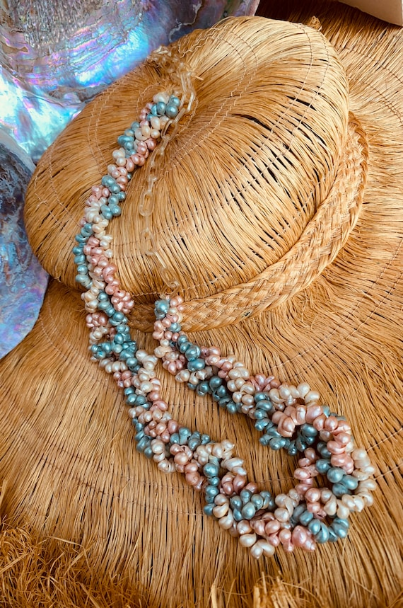 30's Haskell Style Pearlized Pastel Mini Shell and