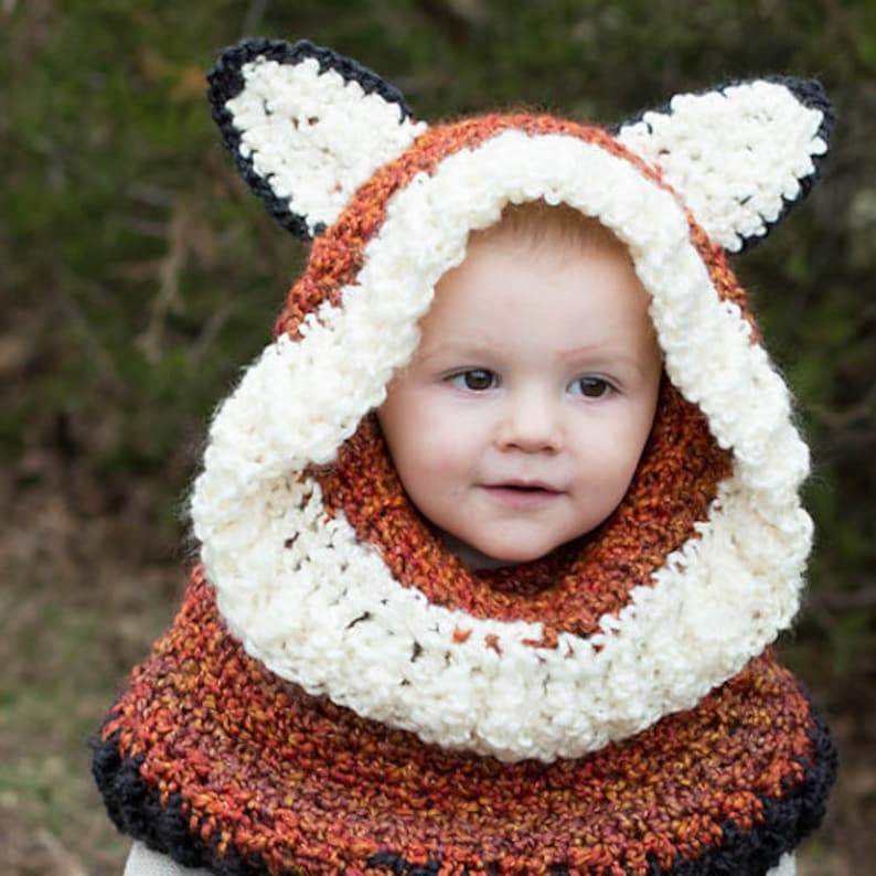 a776a6a5401 Animal Hoodie Cowl Hooded Cowl Warm Winter Hats Kids Animal