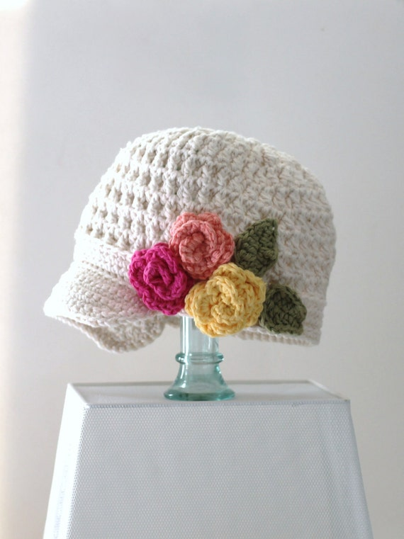 Sombrero Vendedor de periódicos Ganchillo de algodón | Etsy