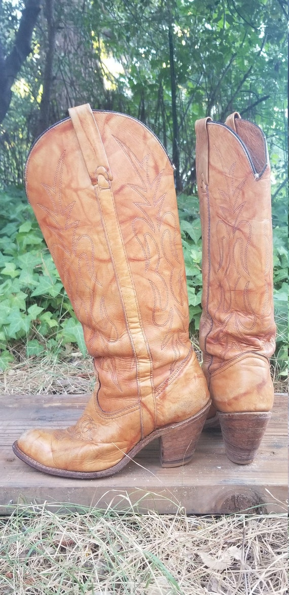 Vintage Womens Cowgirl Boots/ Miss Capezio/Tall