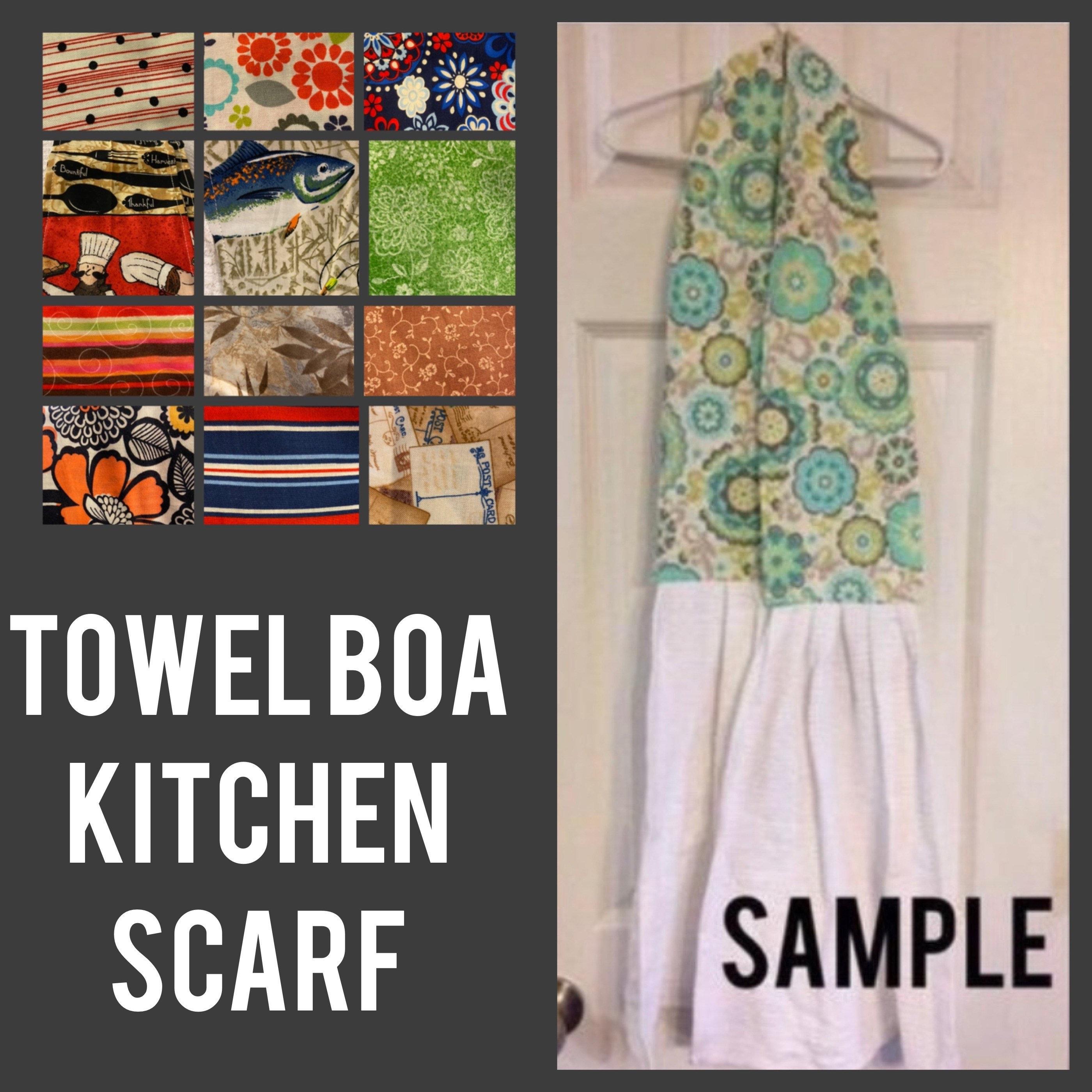Kitchen Boa Kitchen Towel Kitchen Scarf Neck Towel Dish Etsy