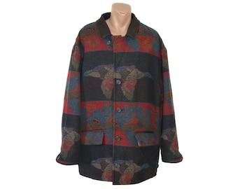 1a53d3ba4b02 Jahrgang John Slim Herren Jacke Wolle Superior Sportswear Lederhalsband