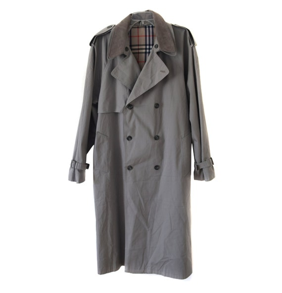 trench Fashion belt Cocoon Vintage with collar men coat gray trenchcoat removable PIUgwxqn