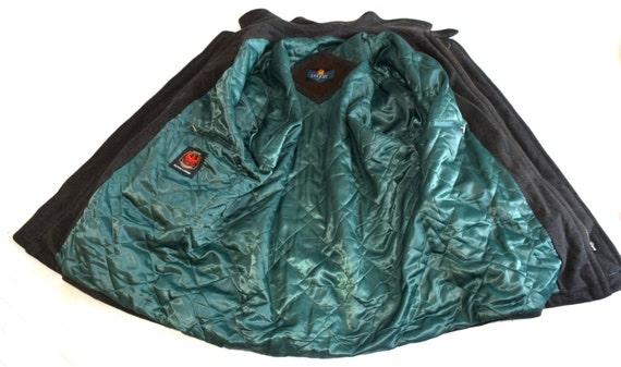 Bugatti Herren Wollmantel Jahrgang Real imprägniert Jacke Alpen Loden grün wolle Mantel