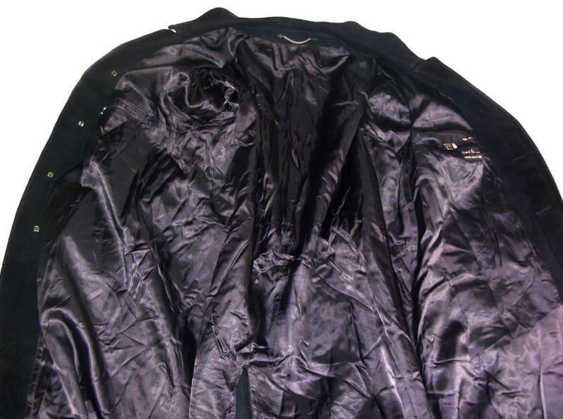 Andre Francois Men Wool Coat Jacket Overcoat Winter Vintage Man Frock Mens long Coat Classic navy blue