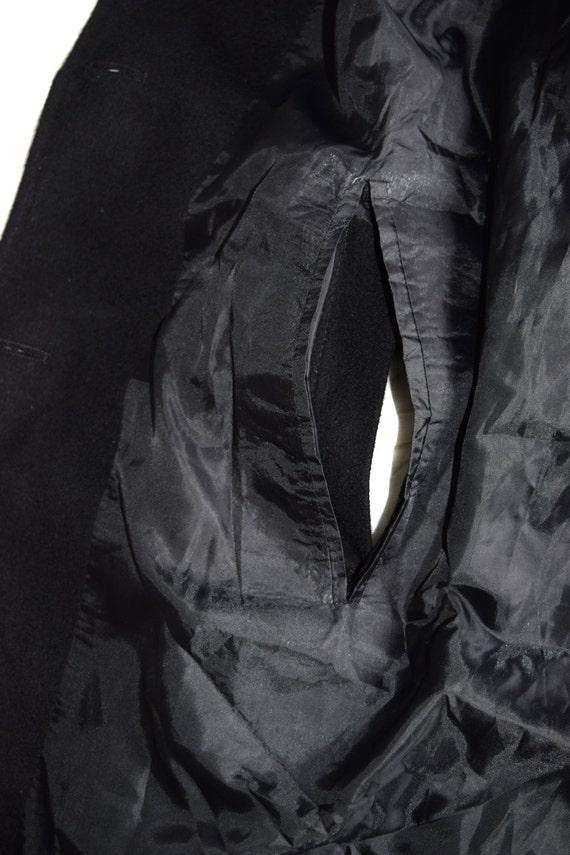 breasted Overcoat coat Long Wool Black Double Vintage Man coat coat Pea Coat Men B0wqTX