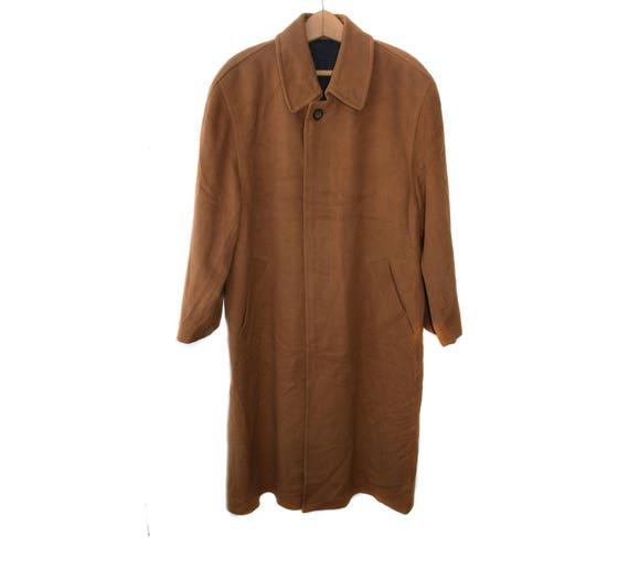 Herren langen Mantel Vintage Herren Mantel Kaschmir Herren Brown Mantel