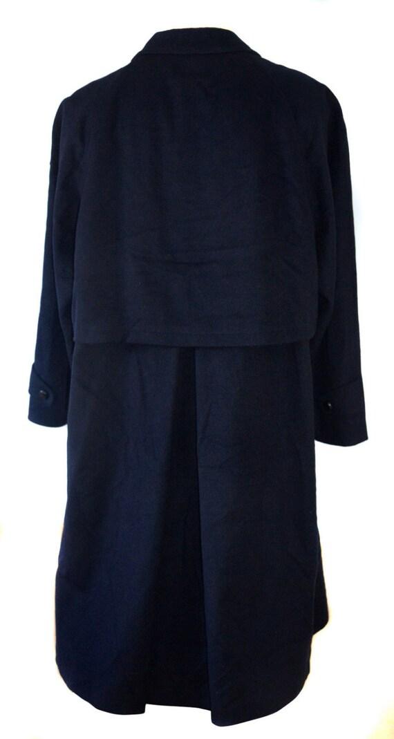 buttons Black Winter Vintage Coat Long Lambswool men Mens Coat Wool Coat Leather Overcoat q76FCT