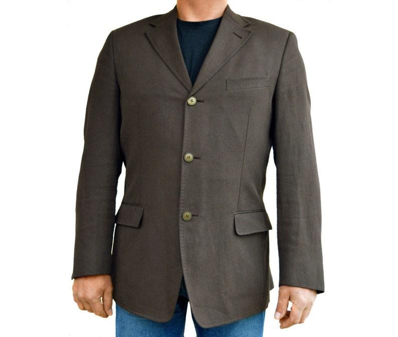 f01a38eb7b Men Linen blazer Sport coat Mens Vintage Formal blazer Suit blazer  Ermenegildo Zegna Soft