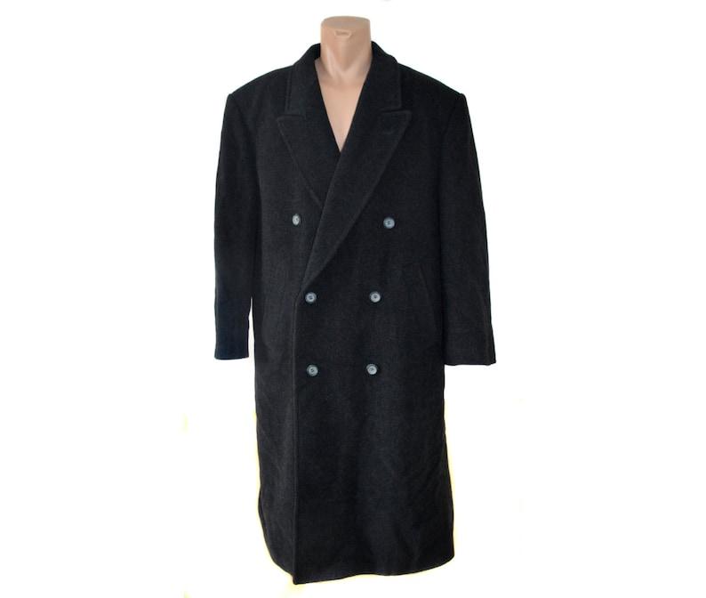 27ccfce7c1d7e Mens YORN Long Coat   Vintage Wool Cashmere Overcoat   Men