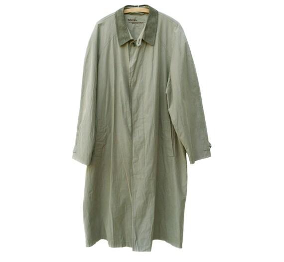 Melka trench coat / Vintage men trench coat / Ligh