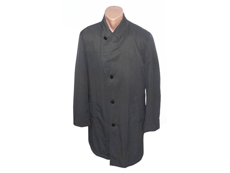 new arrival 39c82 ea8fe Hugo Boss Männer Trenchcoat / Vintage Mantel grau / Vintage Mann Mantel /  Knöpfe Trenchcoat