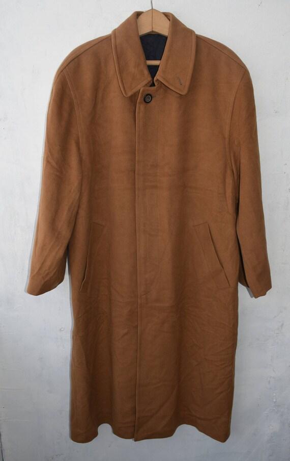 Vintage Herren Mantel langen Brown Mantel Herren Mantel Herren Kaschmir uFK3Tc5lJ1
