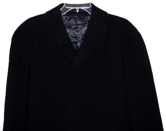 fe64e8a9ac5a ... Top laine Aachen hommes manteau manteau Vintage noir hommes manteau  hommes Long en laine 7a5ceb ...