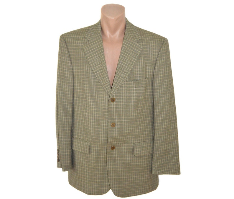 6c82d2bac Valentino Men Pure New Wool Blazer Sport Coat Mens Vintage Formal Suit  Blazer Valentino Uomo